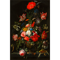 The Picturalist Framed Print on Rag Paper: Flowers in a Metal Vase