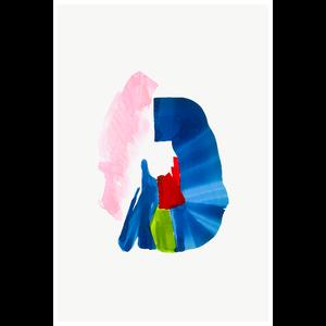Framed Print on Rag Paper: Color Study 5