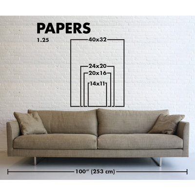 Framed Print on Rag Paper: Color Study 8 By Encarnacion Portal Rubio