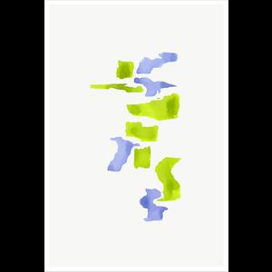 Framed Print on Rag Paper Color Study 19