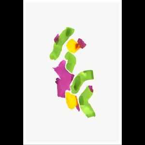 Framed Print on Rag Paper Color Study 20