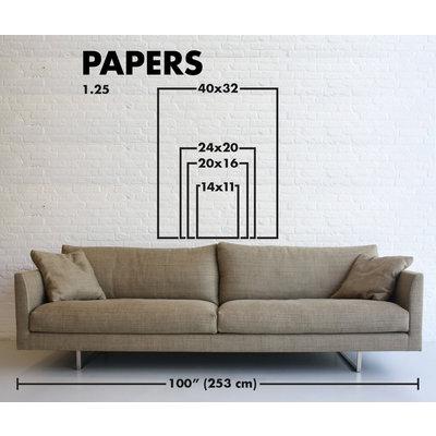 Framed Print on Rag Paper: Color Study 17 By Encarnacion Portal Rubio