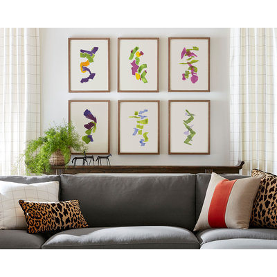 Framed Print on Rag Paper: Color Study 21 By Encarnacion Portal Rubio