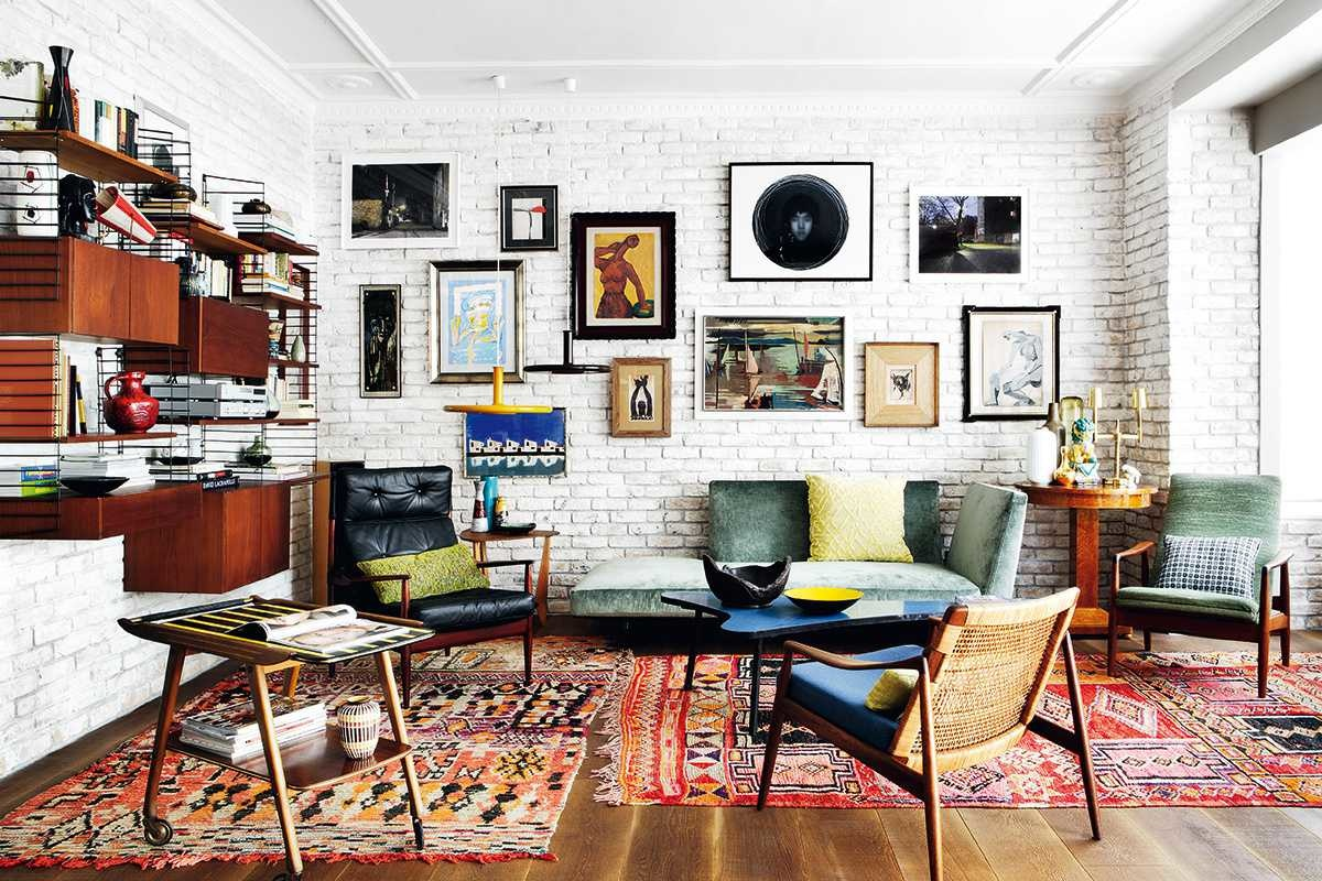 Gallery Wall in a Maxmalist Living Room