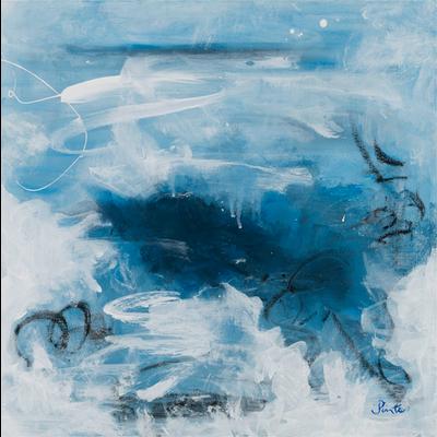 Framed Print on Rag Paper: Azure IV by Leila Pinto