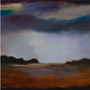 Framed Print on Rag Paper: Hamptons Landscape