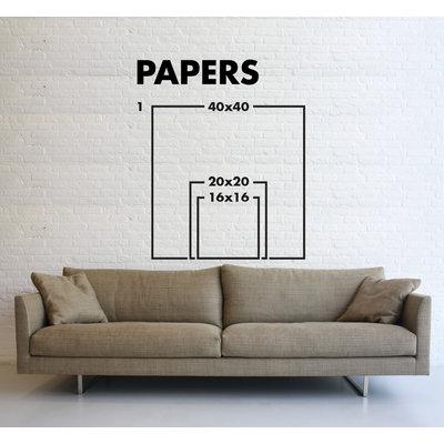 Framed Print on Rag Paper: Azure I by Leila Pinto