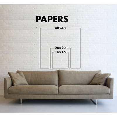 Framed Print on Rag Paper: Azure III by Leila Pinto