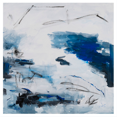 The Picturalist Framed Print on Rag Paper: Azure II by Leila Pinto