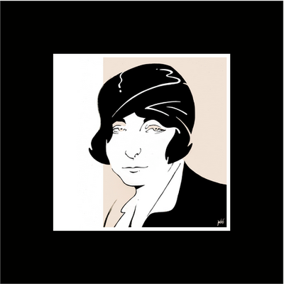 The Picturalist Framed Print on Rag Paper: Eileen Grey Iconic Designers by Anthony Jenkins