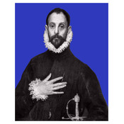 Framed Print on Rag Paper: His Hand on His Chest by Alejandro Franseschini