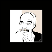 Framed Print on Rag Paper: Poul Kjaerholm Iconic Designers by Anthony Jenkins