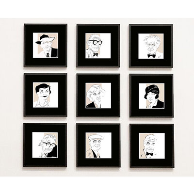 Framed Print on Rag Paper: Yves Klein Iconic Designers by Anthony Jenkins