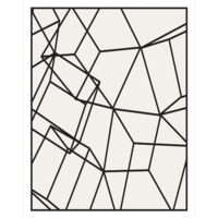 The Picturalist Framed Print on Rag Paper: Black Cubes on White 2