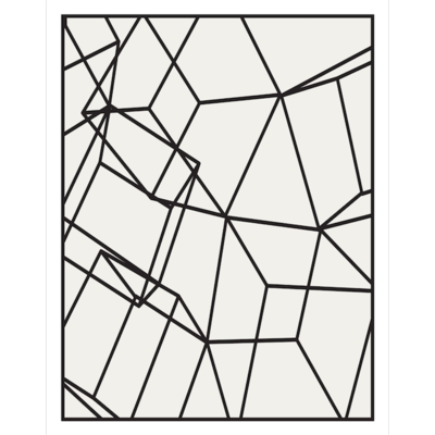 The Picturalist Framed Print on Rag Paper: Black Cubes White Vertical 2