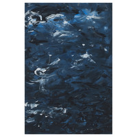 Framed Print on Canvas: Swirling Blues 1