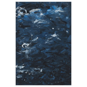 The Picturalist Framed Print on Canvas: Swirling Blues 1