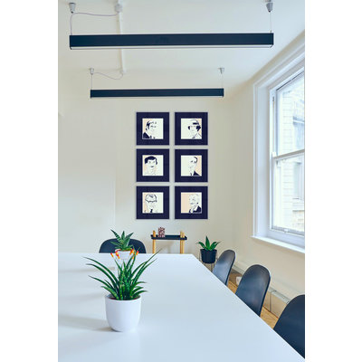 Framed Print on Rag Paper: Walter Gropius Iconic Designers by Anthony Jenkins