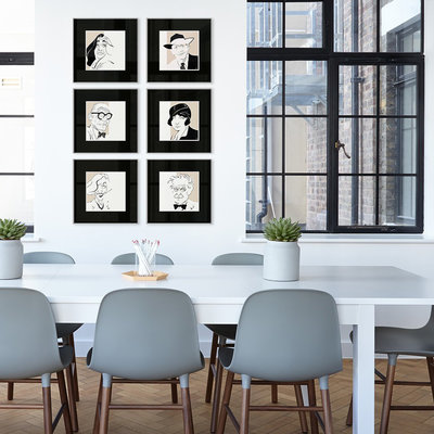 Framed Print on Rag Paper: Gio Ponti Iconic Designers by Anthony Jenkins