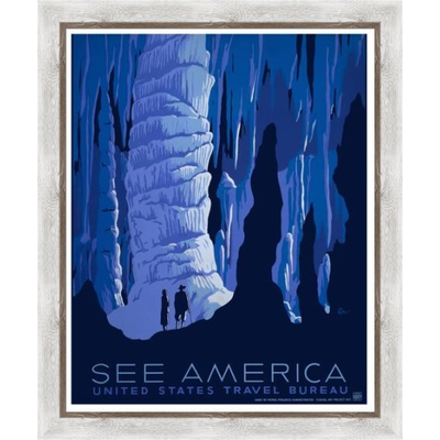 The Picturalist Framed Print on Rag Paper: See America Poster by the U.S. Government programs