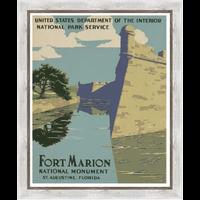 Framed Print on Rag Paper: Fort Marion in St. Agustine