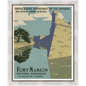 Framed Print on Rag Paper: Fort Marion in St. Agustine