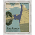 Framed Print on Rag Paper: Fort Marion in St. Agustine Poster by the U.S. Government programs