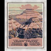 Framed Print on Rag Paper: Gran Canyon