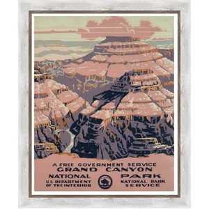 Framed Print on Rag Paper: Gran Canyon