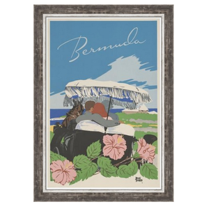 The Picturalist Framed Print on Rag Paper: Bermuda Vintage Travel Poster