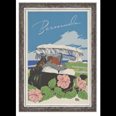 The Picturalist Framed Print on Rag Paper: Bermuda Vintage Travel Poster