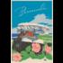 Framed Print on Rag Paper: Bermuda Vintage Travel Poster