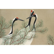 The Picturalist Framed Print on Rag Paper: Cranes from Momoyogusa by Kamisaka Sekka