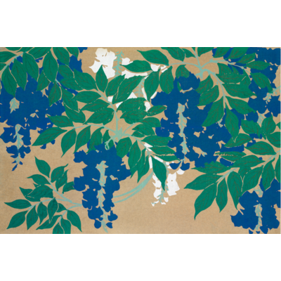 Framed Print on Rag Paper: Wisteria by Kamisaka Sekka
