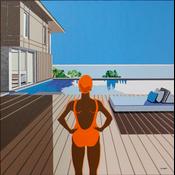 Framed Print on Canvas: Douce Journée d'été by Sylvie Eudes