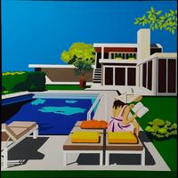 Framed Print on Canvas: Palm Springs