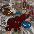Spiderman, Tintin et Milou by Sylvie Eudes