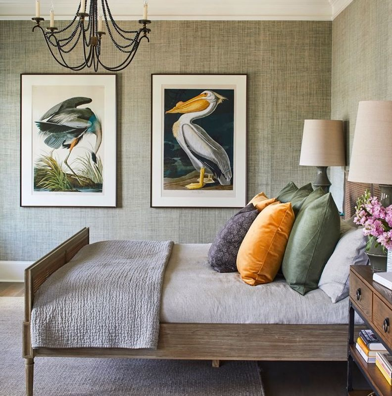 Pelican and Blue Heron