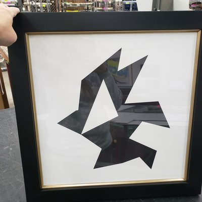 Framed Print on Rag Paper: Origami 3 by Alejandro Franseschini