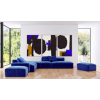Framed Print on Canvas: Robert in Blue