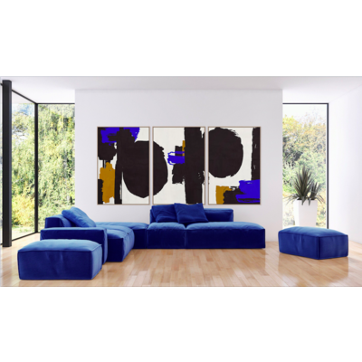 The Picturalist Framed Print on Canvas: Robert in Blue by Alejandro Franseschini 40 x 60 inches each panel