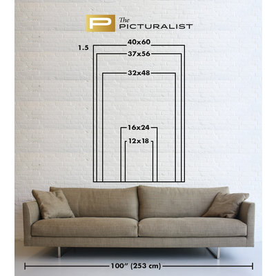 The Picturalist Framed Print on Canvas: Triptych Warm Sands by Leila Pinto
