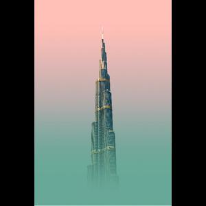 Framed Print on Rag Paper: Tall Series II