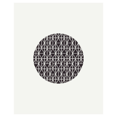 Framed Print on Rag Paper: Threads Collection 3 African Dogon Textile Pattern from Benin