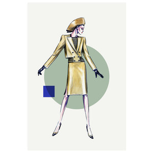 Framed Print on Rag Paper: Chanel 2 Piece