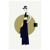 Maxi Skirt Fashion Vintage Sketches 70S
