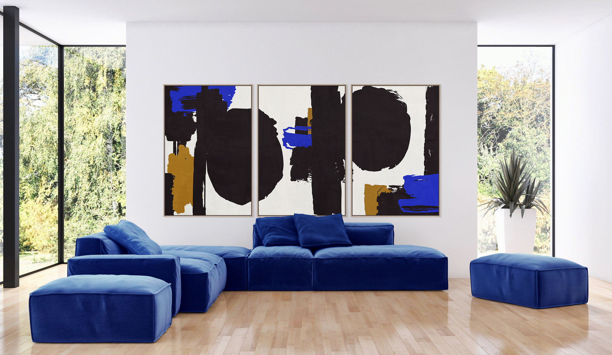 Diptychs and triptychs and the effect of large artwork in design spaces
