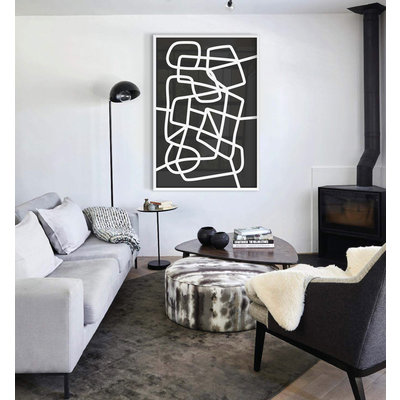 Framed Print on Rag Paper: Moment in Love by Alejandro Franseschini