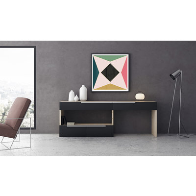 The Picturalist Framed Print on Canvas: Rombo by Alejandro Franseschini