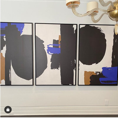 Framed Print on Canvas: Robert in Blue by Alejandro Franseschini 40 x 60 inches each panel